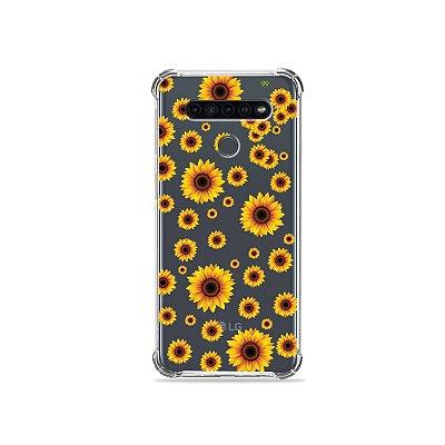 Capinha (Transparente) para LG K41s - Girassóis