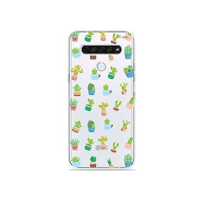 Capinha (Transparente) para LG K61 - Cactus