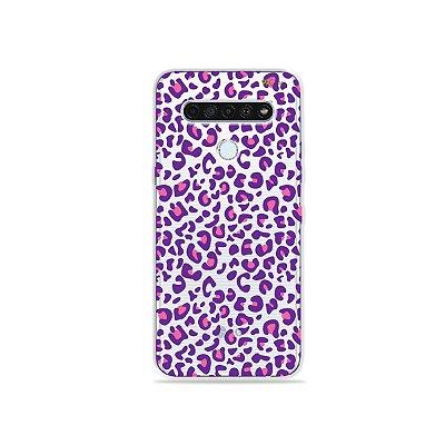 Capinha (Transparente) para LG K61 - Animal Print Purple
