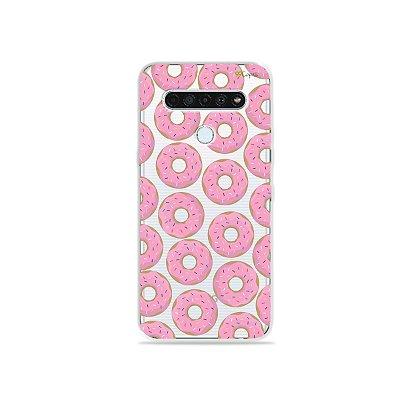 Capinha (Transparente) para LG K61 - Donuts