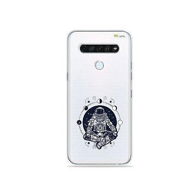 Capinha (Transparente) para LG K61 - Astronauta