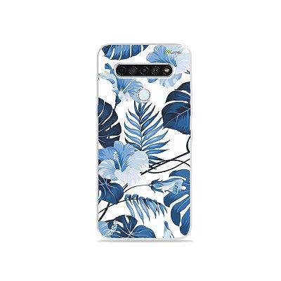 Capinha para LG K61 - Flowers in Blue