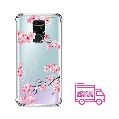Capinha (Transparente) para Xiaomi Redmi Note 9 - Cerejeiras