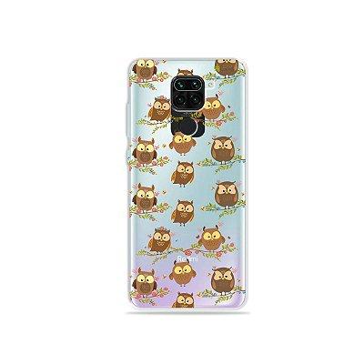 Capinha (Transparente) para Xiaomi Redmi Note 9 - Corujinhas