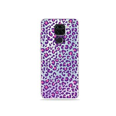Capinha (Transparente) para Xiaomi Redmi Note 9 - Animal Print Purple