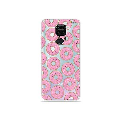 Capinha (Transparente) para Xiaomi Redmi Note 9 - Donuts