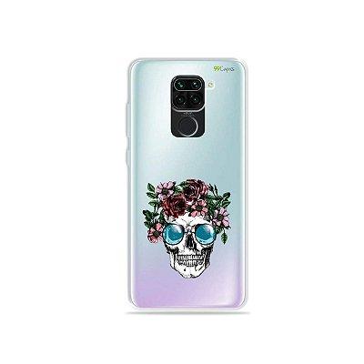 Capinha (Transparente) para Xiaomi Redmi Note 9 - Caveira