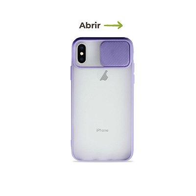 Capinha Soft Lilás com proteção de câmera para iPhone X - 99Capas