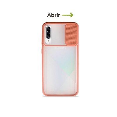 Capinha Soft Rosa com proteção de câmera para Galaxy A50s - 99Capas