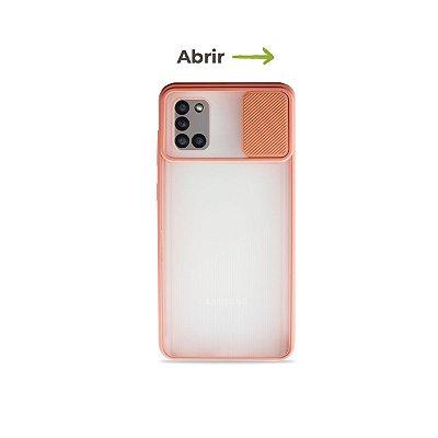 Capinha Soft Rosa com proteção de câmera para Galaxy A31 - 99Capas