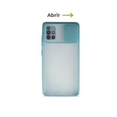 Capinha Soft Azul com proteção de câmera para Galaxy A51 - 99Capas