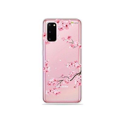 Capinha (Transparente) para Galaxy S20 - Cerejeiras