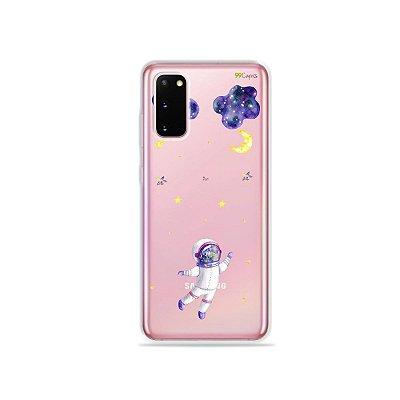 Capinha (Transparente) para Galaxy S20 - Astronauta Sonhador