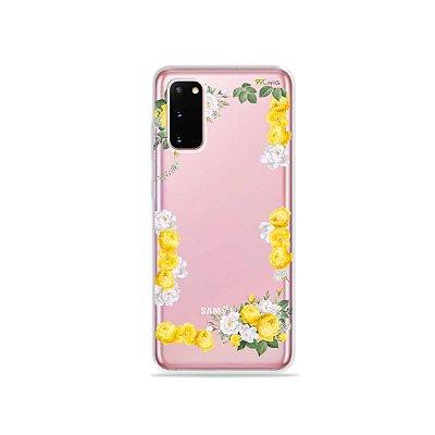 Capinha (Transparente) para Galaxy S20 - Yellow Roses