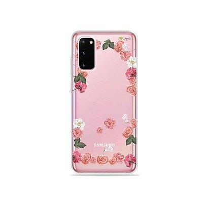 Capinha (Transparente) para Galaxy S20 - Pink Roses