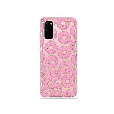 Capinha (Transparente) para Galaxy S20 - Donuts