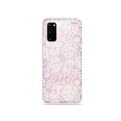 Capinha (Transparente) para Galaxy S20 - Rendada