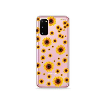 Capinha (Transparente) para Galaxy S20 - Girassóis
