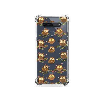 Capinha (Transparente) para LG K51s - Corujinhas