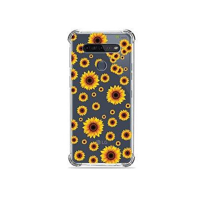 Capinha (Transparente) para LG K51s - Girassóis