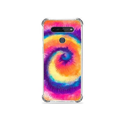 Capinha para LG K51s - Tie Dye Roxo