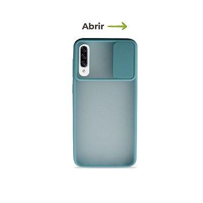Capinha Soft Azul com proteção de câmera para Galaxy A50s  - 99Capas