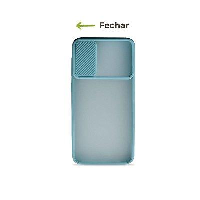 Capinha Soft Azul com proteção de câmera para Galaxy A50 - 99Capas