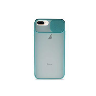 Capinha Soft Azul com proteção de câmera para iPhone 8 Plus - 99Capas