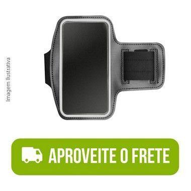 Braçadeira Esportiva Preta de Neoprene para Moto E7 Play