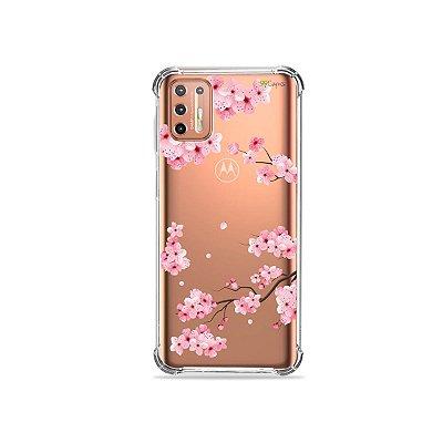 Capinha (Transparente) para Moto G9 Plus - Cerejeiras