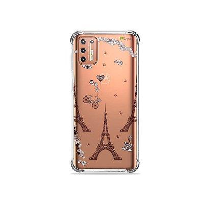 Capinha (Transparente) para Moto G9 Plus - Paris
