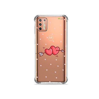 Capinha (Transparente) para Moto G9 Plus - In Love