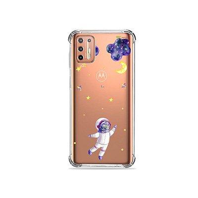 Capinha (Transparente) para Moto G9 Plus - Astronauta Sonhador