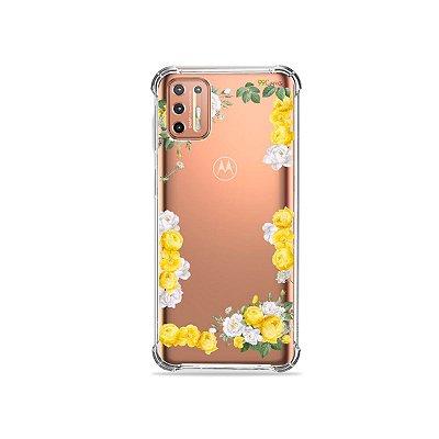 Capinha (Transparente) para Moto G9 Plus - Yellow Roses