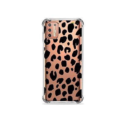Capinha (Transparente) para Moto G9 Plus - Animal Print Basic