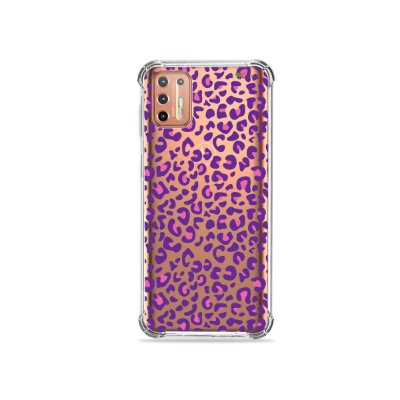 Capinha (Transparente) para Moto G9 Plus - Animal Print Purple