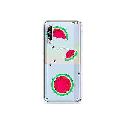 Capinha (Transparente) para Galaxy A90 - Melancias
