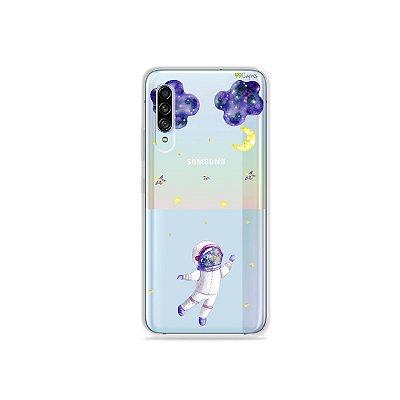 Capinha (Transparente) para Galaxy A90 - Astronauta Sonhador