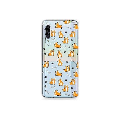 Capinha (Transparente) para Galaxy A90 - Cãozinho