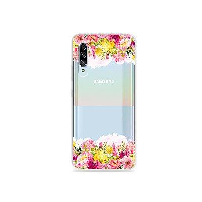 Capinha (Transparente) para Galaxy A90 - Botânica