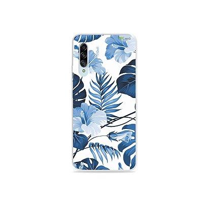 Capinha para Galaxy A90 - Flowers in Blue