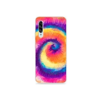 Capinha para Galaxy A90 - Tie Dye Roxo