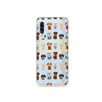 Capinha (Transparente) para Galaxy A90 - Doguinhos