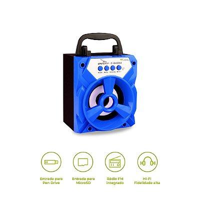 Mini Caixinha de Som Bluetooth Mirtillo (azul) - 99Capas