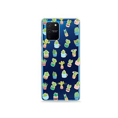 Capa (Transparente) para Galaxy S10 Lite - Cactus