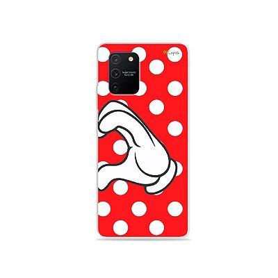Capa para Galaxy S10 Lite - Coração Minnie