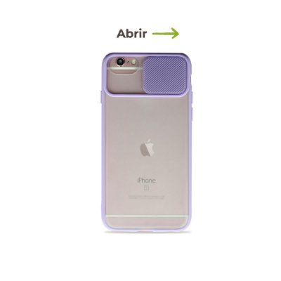 Capinha Soft Lilás com proteção de câmera para iPhone 7 - 99Capas