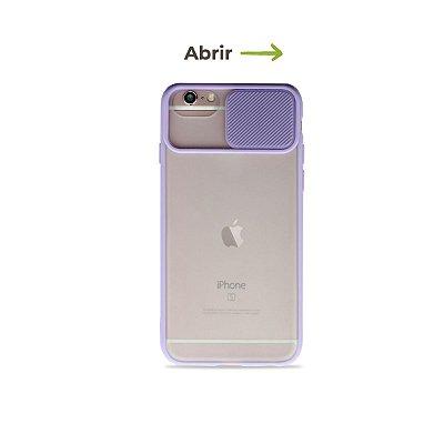 Capinha Soft Lilás com proteção de câmera para iPhone 8 - 99Capas