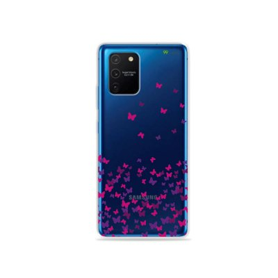 Capa (Transparente) para Galaxy S10 Lite - Borboletas Flutuantes