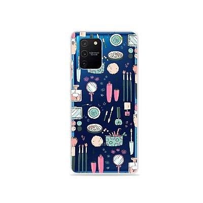 Capa (Transparente) para Galaxy S10 Lite - Make Up